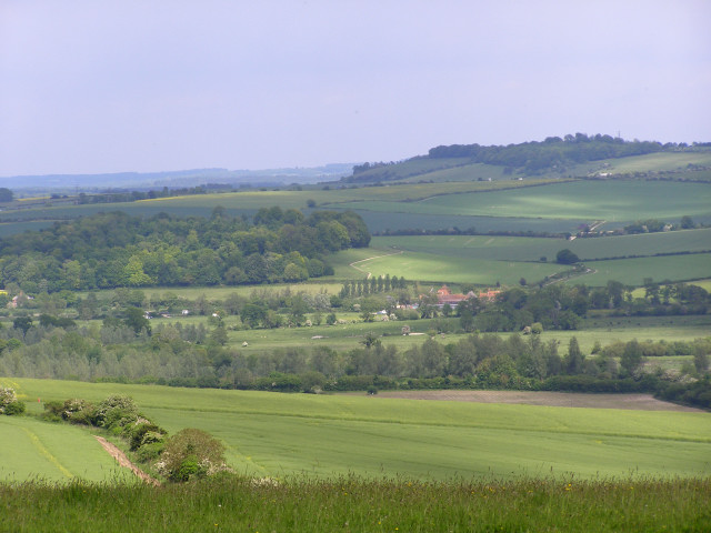 View east-north-east from Clearbury Ring