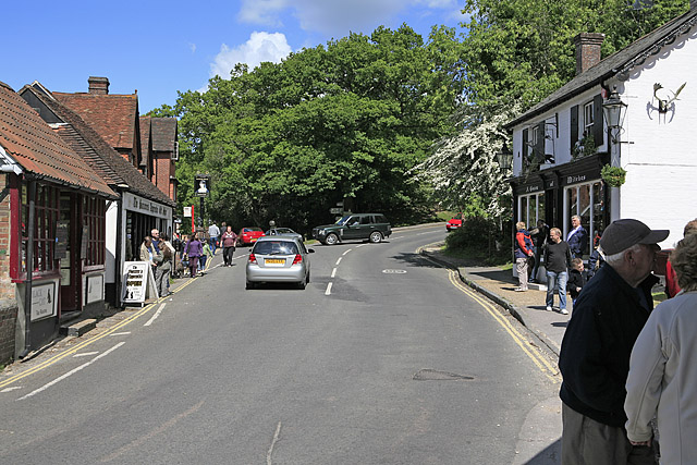 Station Road, Burley, seen from The Cross