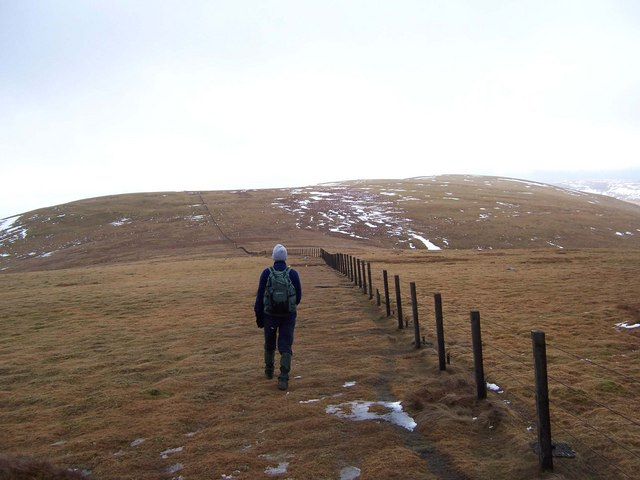 The shallow col between Nickies Knowe and Lochcraig Head