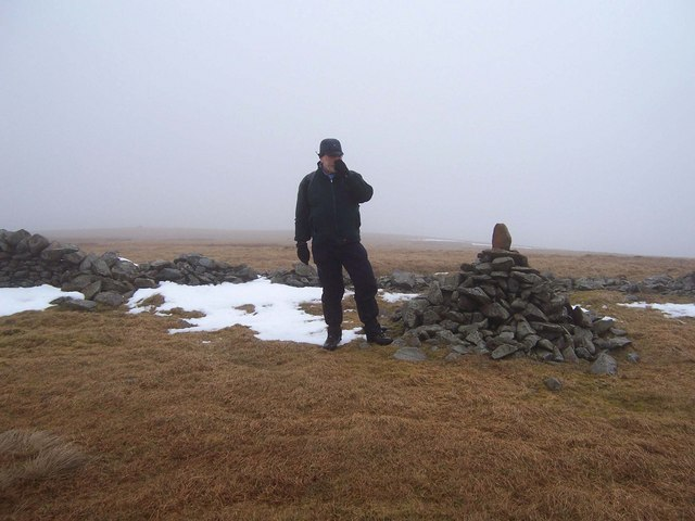 The summit cairn on Molls Cleuch Dod