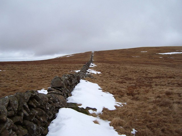 March Dyke climbing to Carlavin