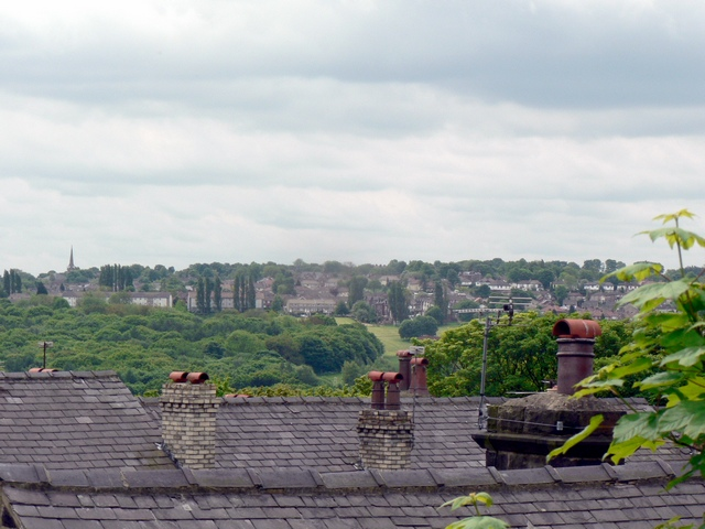 The roofs of Craggwood Road from Wood Lane, Horsforth