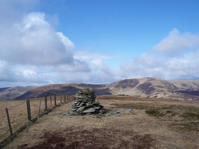 The summit cairn on Andrewhinney