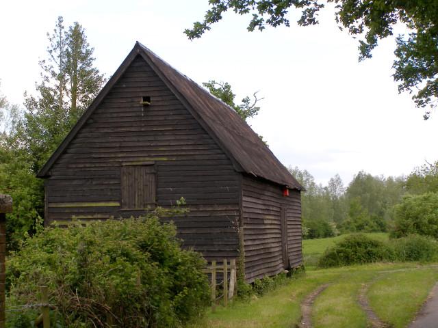 Raised wooden barn near Matrimony Farm