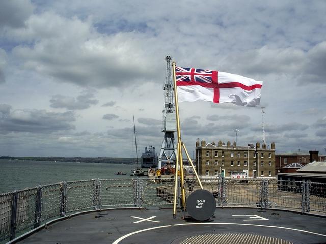 Stern of HMS Exeter, Portsmouth Historic Dockyard