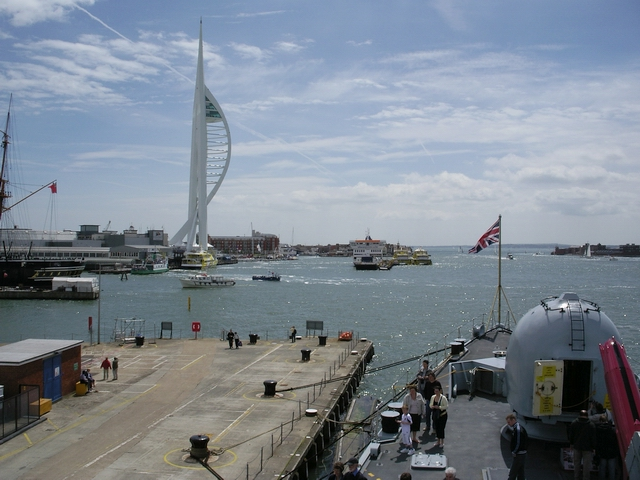Busy scene at Portsmouth Harbour