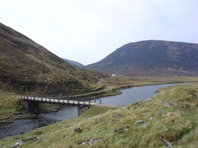 Girder bridge over the Abhainn a' Ghlinne Mhoir river