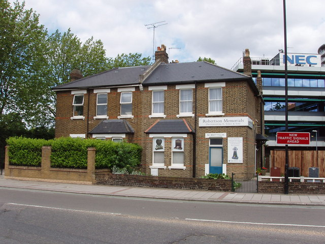 Monumental mason's offices and works, North Acton