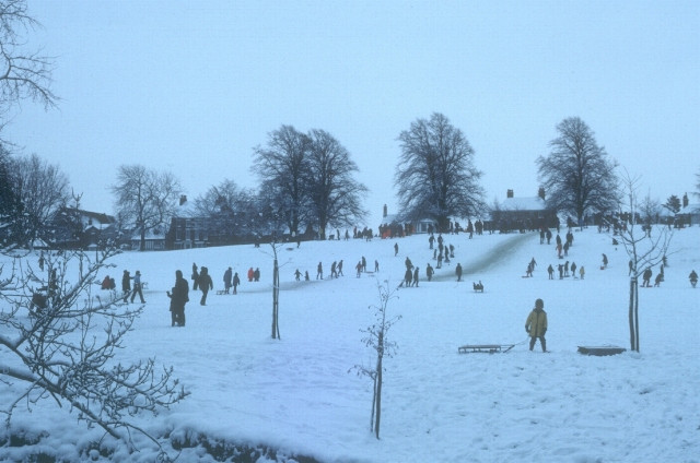 Sledging on Abbey Fields
