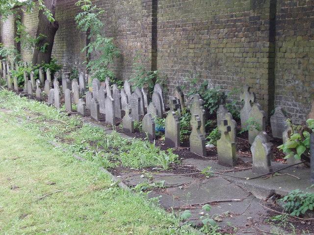 Children's gravestones, Acton Cemetery