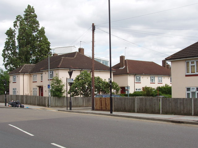 Wales Farm Road and Conway Grove, North Acton