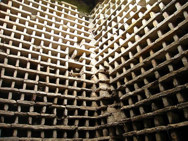 Interior of Herdmanston Doocot