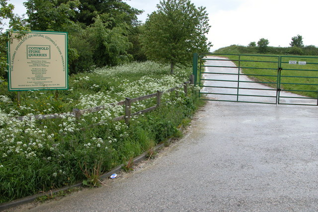 Entrance to Cotswold Stone Quarries, near Naunton