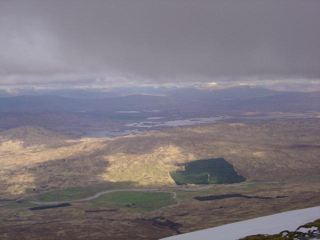 View of Rannoch Moor from Beinn An Dothaidh