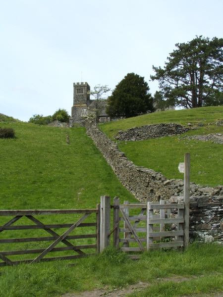 Footpath through Rusland Church