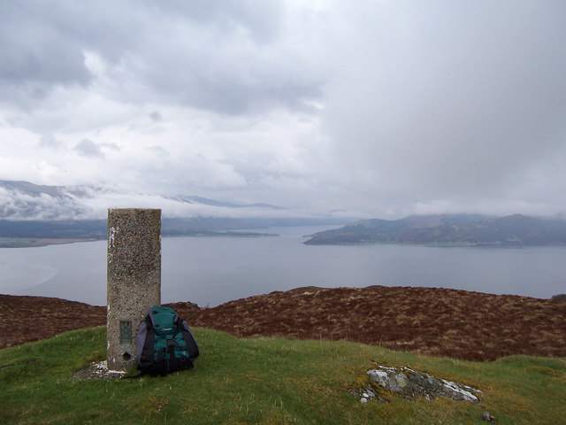 The trig-point on Ardsheal Hill
