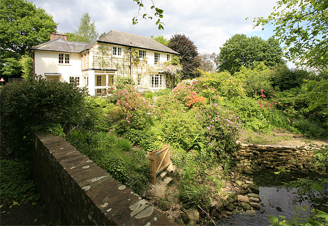 Mill Lawn Brook at Waterfall Cottage, Mill Lane, Burley