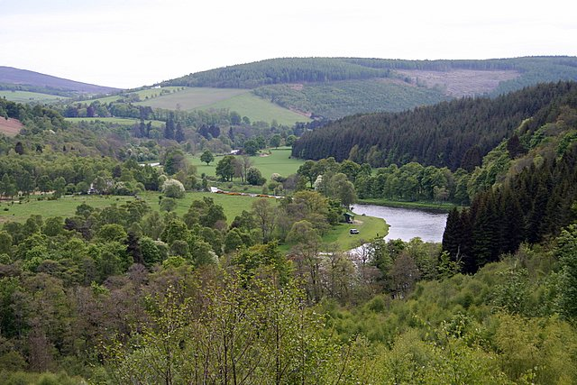 Looking down on the Dellagyle beat, River Spey.