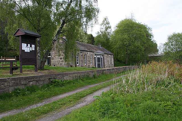 The disused Blacksboat railway Station.
