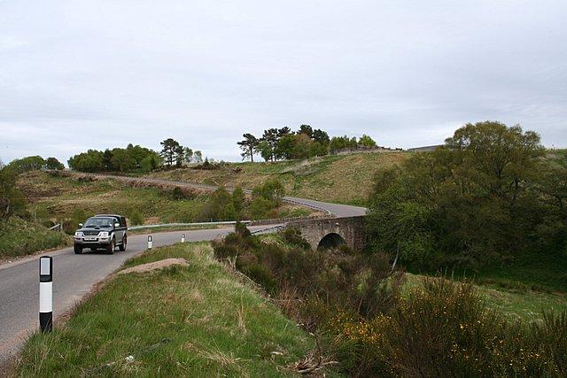 Bridge over the Knockando  Burn, Morayshire.
