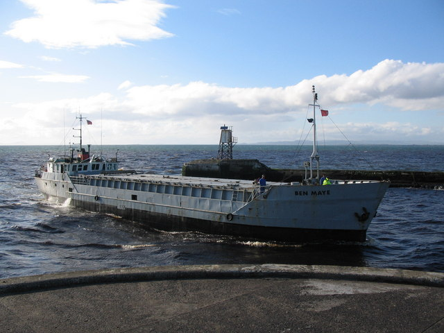Entering Ayr Harbour