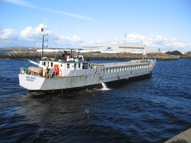 Ben Maye entering Ayr Harbour