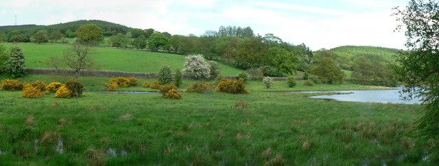 North-west end of Lindley Wood Reservoir