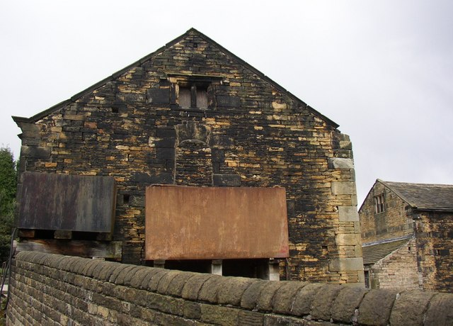 Pitching hole in end of 18C barn, Kirklees Home Farm, Clifton