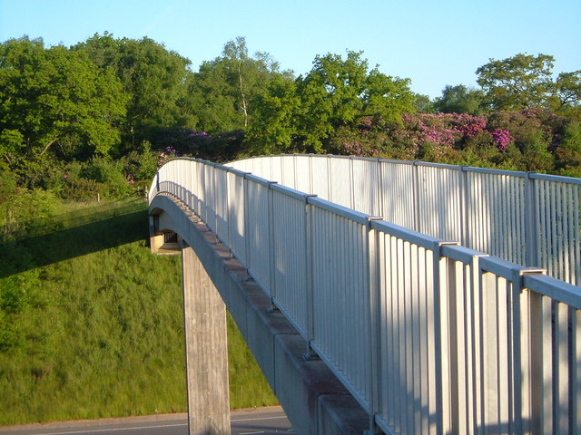 Footbridge over A30 near Daisymount