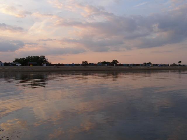 Calshot Spit at sundown
