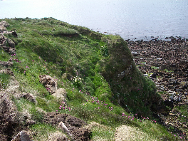 Low cliffs at Widewall Bay
