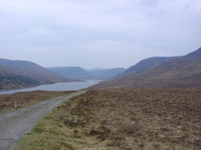 Loch Vaich viewed from Coir' a' Ghrianain