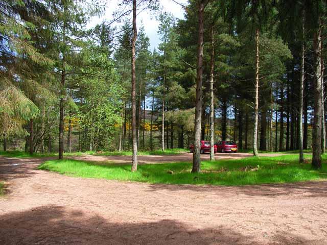 Carpark in Fetteresso Forest