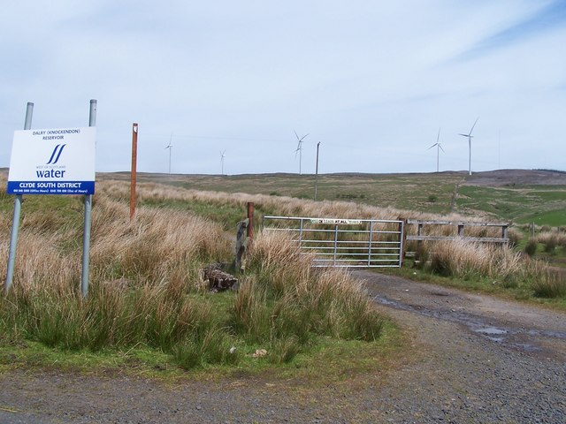 Dalry Moor Road, another Wind Farm