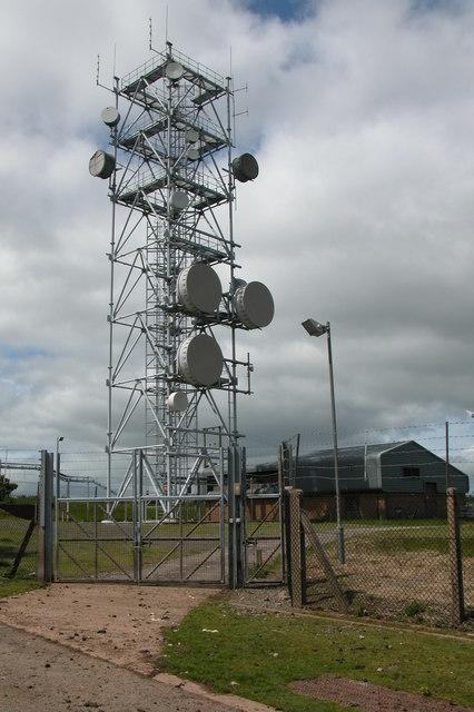 Transmitter mast on Vagar Hill