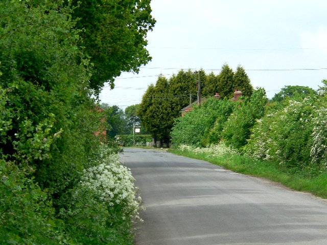 Road past Dial Hall Farm