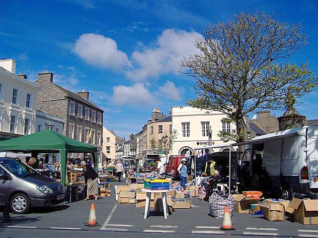 Castletown outdoor market, Isle of Man