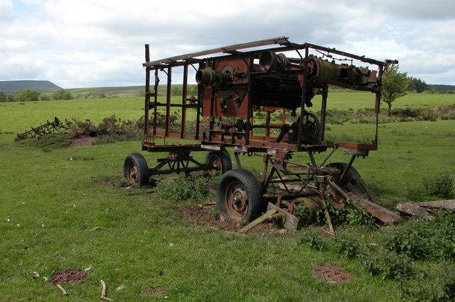 Rusting old farm machine