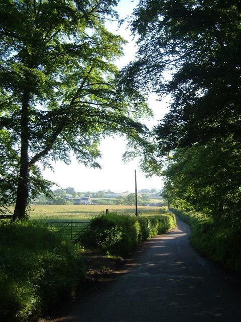 Larkbeare Farm from Holly Ball Cross