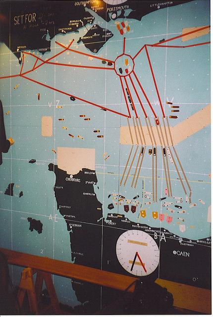 Chart of the Normandy Landings, 6 June 1944.