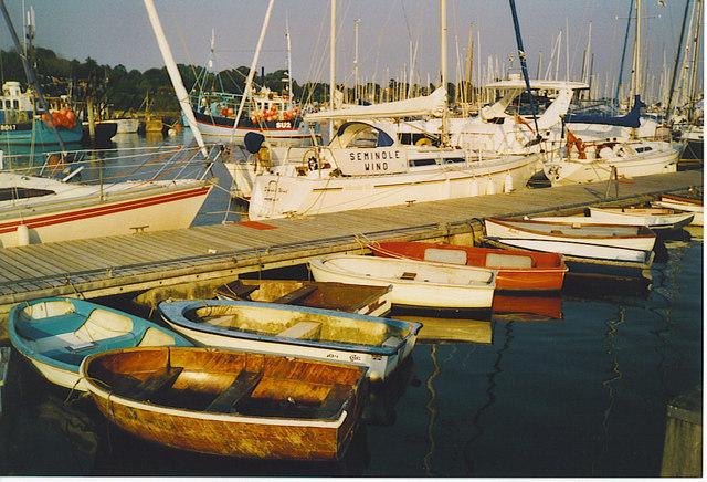 Boats at Lymington Town Quay