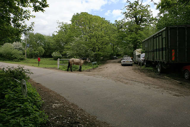 Shobley Road and entrance to Brook Farm