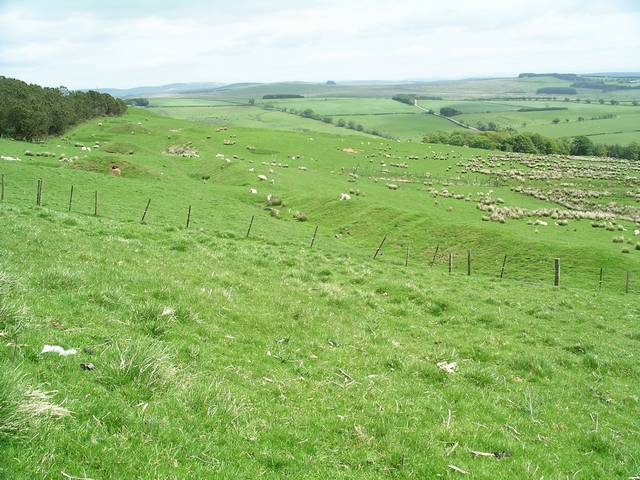Roman camp and fortlet, Burnswark Hill