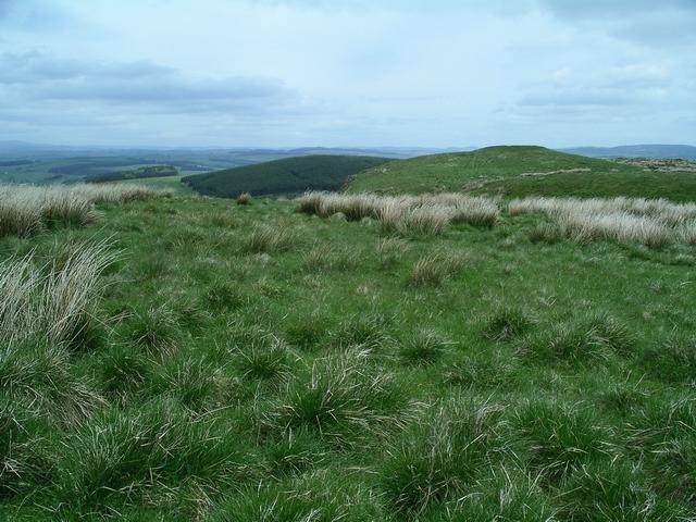 Summit plateau, Burnswark Hill