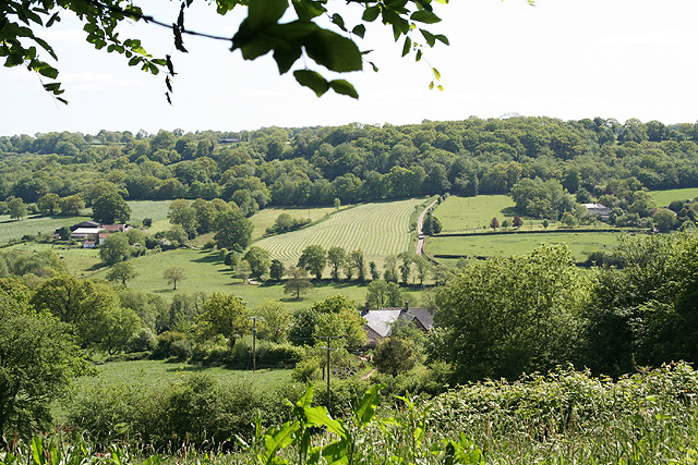 Clayhidon: overlooking the Bolham valley