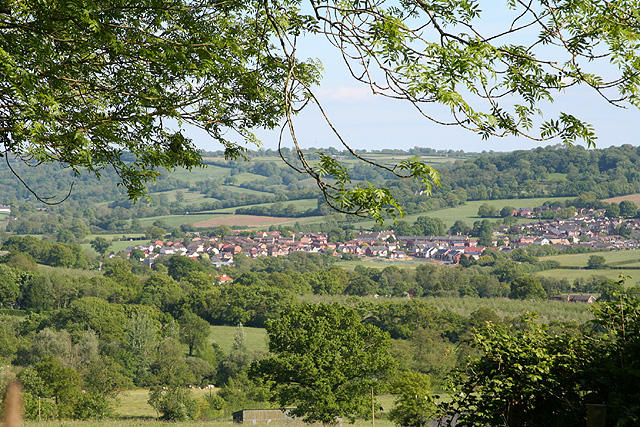 Hemyock: the village from Culm Davy