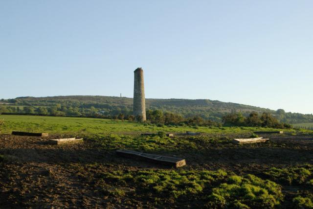Mine Chimney, near Luckett, Cornwall