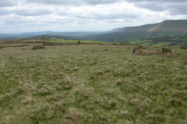 View south from Cefn Hill