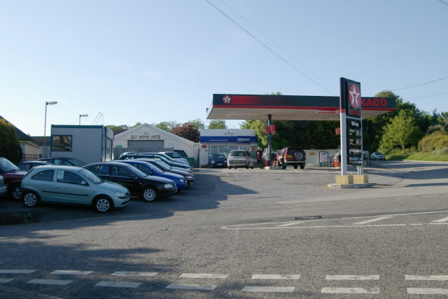 Hatt service station, Saltash, Cornwall