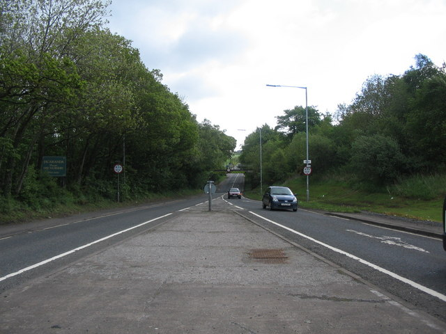 The A70 at Coalhall